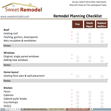 Remodel Planning Checklist Checklist to go through when planning
