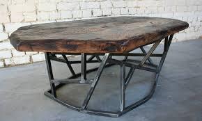 table basse sf tb008 giani desmet meubles indus bois métal et cuir