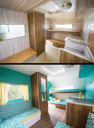 Teal Vintage Rv Before