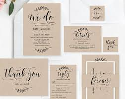 Rustic Elegance Wedding Suite Editable Template