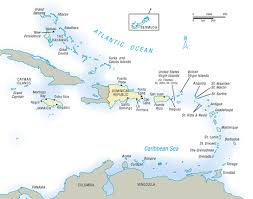 Caribbean Vacation Information Map