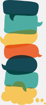100 Flat Cloud Assortedcolor Speech Cloud Lot Design Speech Balloon