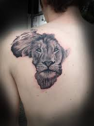 Lion Face Tattoo African Design