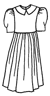 Girl Dress In Black And White Clipart