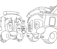 Finley The Fire Engine Coloring Pages For Kids, Printable Free