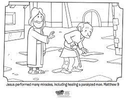 Jesus Heals Coloring Page