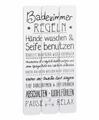 wandschild plankenschild badezimmerregeln 60x30cm vintage
