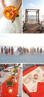 25 best Red Orange Yellow Beach Wedding images on Pinterest