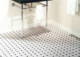 black and white mosaic tile floor black and white