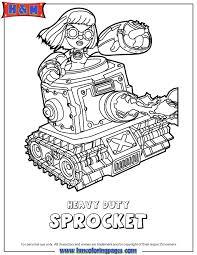 Skylanders Swap Force Tech Heavy Duty Sprocket Coloring Page