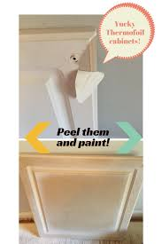 Laminate Cabinets Peeling by How To Fix Peeling White Cabinets Diy Home Projects Pinterest