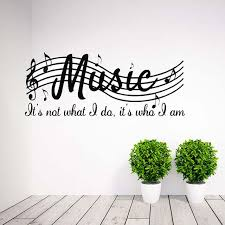 Home Decor Mural PVC DIY Removable Wall Sticker Poster Room Decal Art Musical Notes Sheet