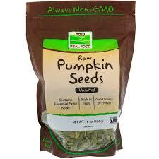 Pumpkin Seeds Testosterone by Now Foods Raw Pumpkin Seeds Unsalted 16 Oz 454 G Iherb Com