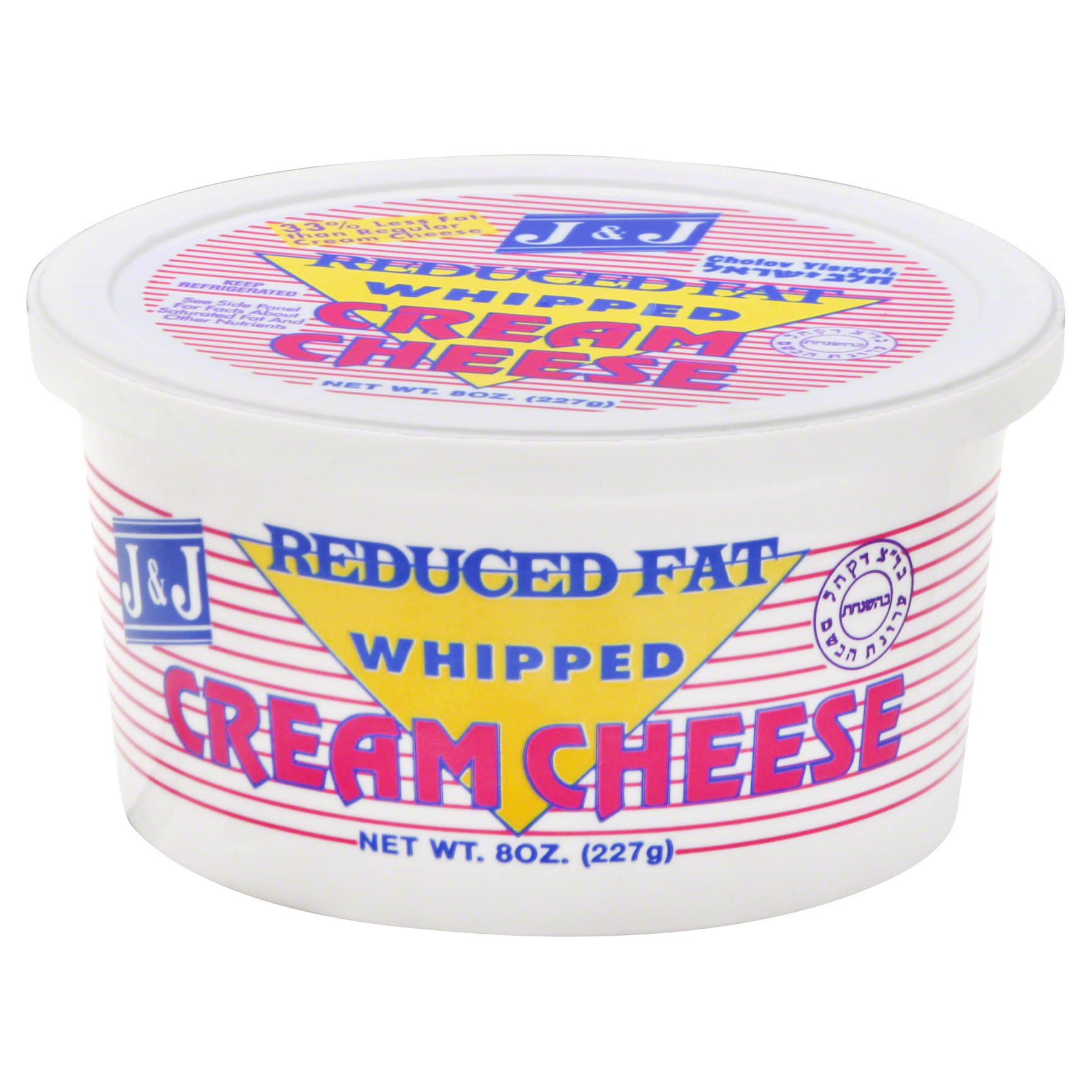J & J Cream Cheese, Reduced Fat, Whipped - 8 oz