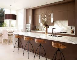 Modern Kitchen Booth Ideas by Kitchen Brown Tile Flooring Brown Base Cabinets Gray