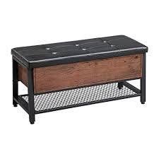 vasagle schuhbank sitzbank mit gepolsterter sitzfläche und schuhregal betttruhe mit stauraum 100 x 40 x 47 cm multifunktionale truhe flur