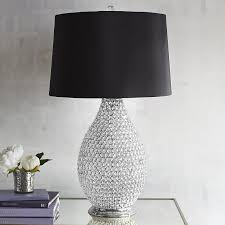 Crystal Table Lamp Finials by Black U0026 Crystal Bead Table Lamp Pier 1 Imports