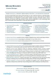 Finance Manager Resume Examples Professional 2013 Australia Free Templates