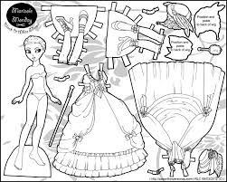 Roccoco Fantasy Paper Doll In Black And White