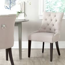 Grey Upholstered Dining Chairs With Nailheads by Articles With Tufted Dining Chair Nailhead Tag Amazing Dining