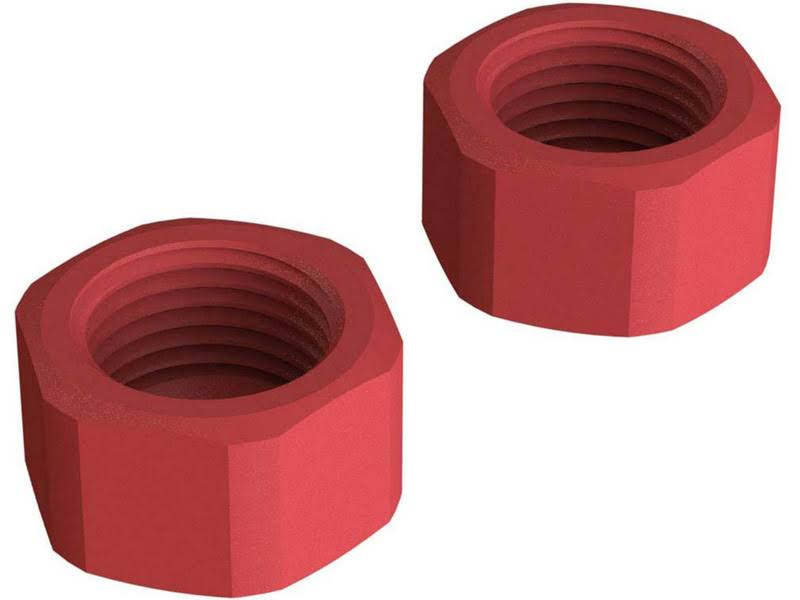 Arrma Senton Mega 4wd AR310808 Composite Slipper Clutch Nut - Red, 2pcs