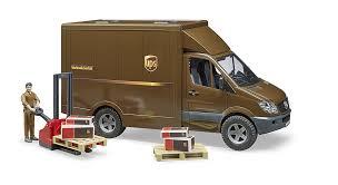 100 Truck And Van Accessories Bruder MB Sprinter UPS With Driver Accessories Franc Jeu