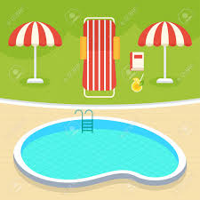 Indoor Swimming Pool For Spot And Family Flat Vector Cartoon Money Illustration Objects Isolated