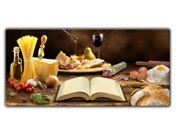 alu dibond wandbild mediterrane küche lang