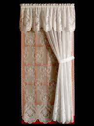 Lace Priscilla Curtains With Attached Valance by Lace Curtains Traditional And Insulated Styles