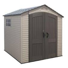 Rubbermaid Shed 7x7 Manual by Rubbermaid 7 Ft 2in X 7 Ft 3 In Plastic Storage Shed