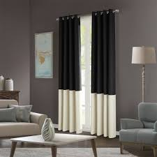 Blue Room White Brown Curtains Living Decorating And Shower