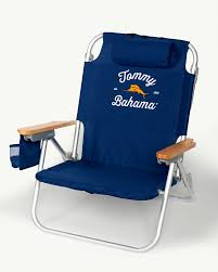 Tommy Bahama Folding Camping Chair by Navy Deluxe Backpack Beach Chair
