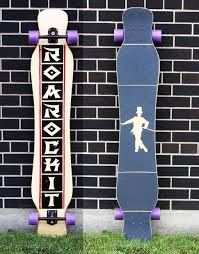 Pintail Longboard Deck Template by 55