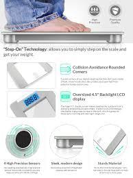 Eatsmart Digital Bathroom Scale Uk by Amazon Com Zerla Digital Bathroom Scale U2013 Highly Accurate Digital