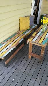 Pallet Outdoor Chair Plans by Pallet Outdoor Set Patio Furniture