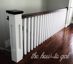 The How-To Gal: Memoirs Of A Banister Stalling Banister Carkajanscom Banister Spindle Replacement Replacing Wooden Stair Balusters Model Staircase Spindles For How To Replace Pating The Stair Stairs Astounding Wrought Iron Unique White Back Best 25 Black Ideas On Pinterest Painted Showroom Saturn Stop The Uks Ideas Top Latest Door Design Decorations Outdoor Railing Indoor Remodelaholic Renovation Using Existing Newel Fresh Rail And