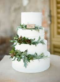 A Simple And Rustic Italian Wedding Cake Beautiful Greens Give Natural Look