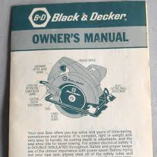 Dresser Roots Blower Manual by Vtg Instructions Guide Black U0026 Decker Circular Saw 7300 Owners
