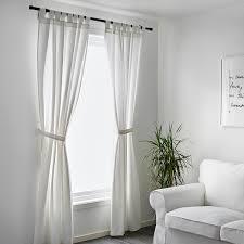 lenda 2 gardinen raffhalter weiß 140x300 cm ikea