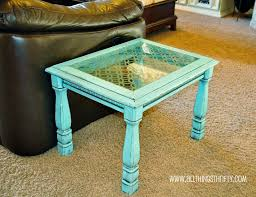 How To Build Wooden End Table by Add Character To Glass Furniture The Easy Way All Things Thrifty
