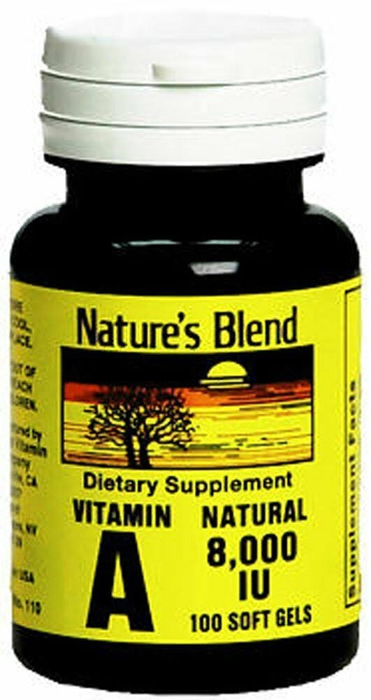 Nature's Blend Vitamin A Dietary Supplement - 8000 IU, 100ct