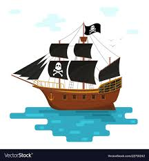 100 Design A Pirate Ship Cartoon Pirate Ship With Black Sails