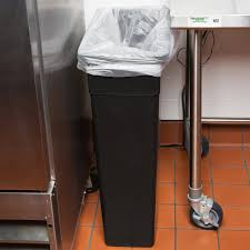 Under Cabinet Trash Can With Lid by Continental 8322bk 23 Gallon Wall Hugger Black Trash Can