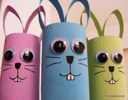 Easter Craft Toilet Paper Roll Bunnies