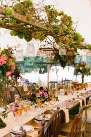 Vintage Wedding Hanging Centerpiece Ideas With Ladders