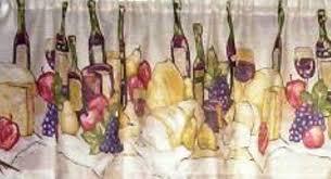 Wine Themed Kitchen Set by Wine Themed Merlot Kitchen Curtain Window Treatment Ad 3793776
