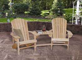 Gorgeous Cypress Adirondack Chairs Double Settee With Optional Ottomans