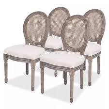 vidaxl esszimmerstühle 4 stk creme stoff