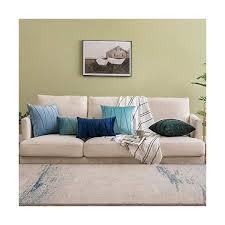woaboy 2 gestreifte samt kissenbezüge modern dekorativ robust weich gemütlich für bett sofa auto wohnzimmer