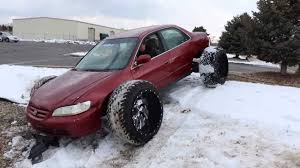 100 16 Truck Wheels Honda Accord With Huge OffRoad Tires Doesnt Look Practical
